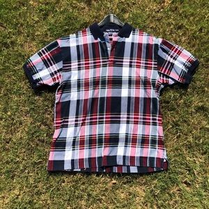 Vintage Nautica plaid polo